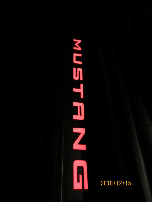 メーカー・ブランド不明 メーカー・ブランド不明 2015-2017-Mustang-50th-Anniversary-Illuminated-Lighted-Door-Sill-Step-Plates