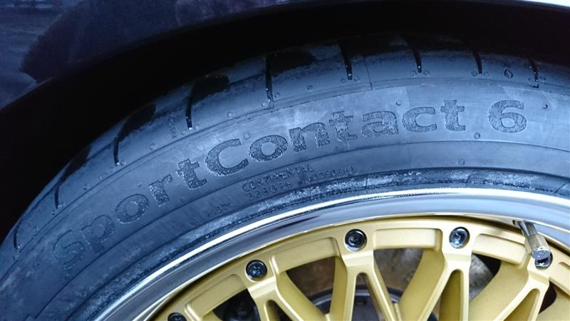 Continental ContiSportContact 6 サイズ不明