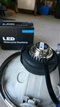SV650ABSBHG ヘッドライト バイク用 18W LEDバルブの単体画像