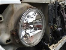 パジェロジュニアヤフオク ウインカー内蔵クリスタルヘッドランプの単体画像