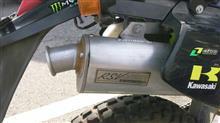 KLX250ESラフ&ロード RSVマフラーの単体画像