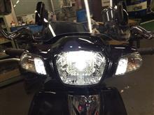 スーパードリームアマゾン e-auto fun バイク用LEDヘッドライトの単体画像