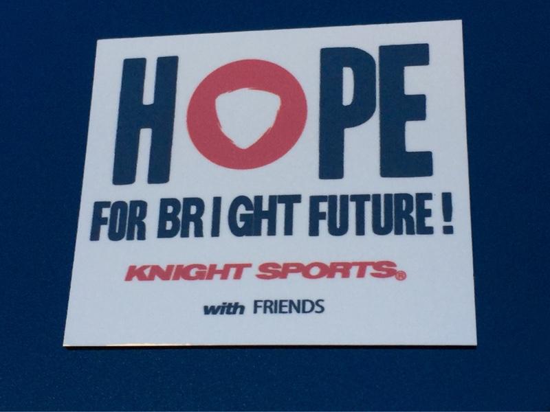 KNIGHT SPORTS HOPE FOR BRIGHT FUTURE!マグネットステッカー