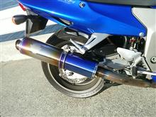 CBR1100XX スーパーブラックバードr's gear WYVERN Single Type チタン ドラッグブルーの単体画像