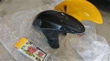 GSX1300R HAYABUSA (ハヤブサ)CLEVER WOLF Racing クレバーウルフレーシング  カーボンフロントフェンダー (綾織)の単体画像