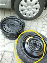 ピノ日産(純正) K12 テンパータイヤの単体画像