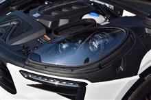 マカンポルシェ(純正) バイキセノンヘッドライト ブラックの単体画像