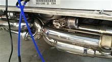 911 カブリオレakiraracing バルブ付きマフラーの全体画像