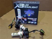 ZSUPAREE LEDヘッドライト H4 オールインワンタイプ ファンレス の全体画像