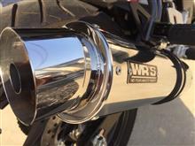 CBR125RWR'S JCMA ラウンドタイプ ステンレスフルエキゾーストの全体画像