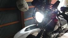 ジェベル200Street Cat  改良鍍金版 H4 バイク用ledヘッドライトの単体画像