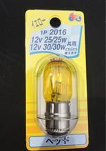 スカッシュマツシマ 1P2016YE M&H マツシマ ヘッドライト用白熱電球 12V25/25W 12V30/30W (イエロー)の全体画像