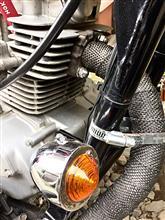 エリミネーター125純正+加工 オリジナル 自作マフラーの全体画像