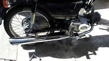 CD50Top sense マフラー スーパーカブ リトルカブ C50 C70 C90 スラッシュカットマフラー フルエキゾースト ホンダ スーパーカブ デラックス スタンダード カスタム の全体画像