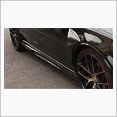 w205 汎用品 W204 C63 AMG 専用 サイドスカートエクステンション スポイラー Vタイプ ウエットカーボン