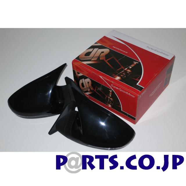 DANGAN RACING GTSミラー LED ブラック ミラー面手動調整 右ハンドル