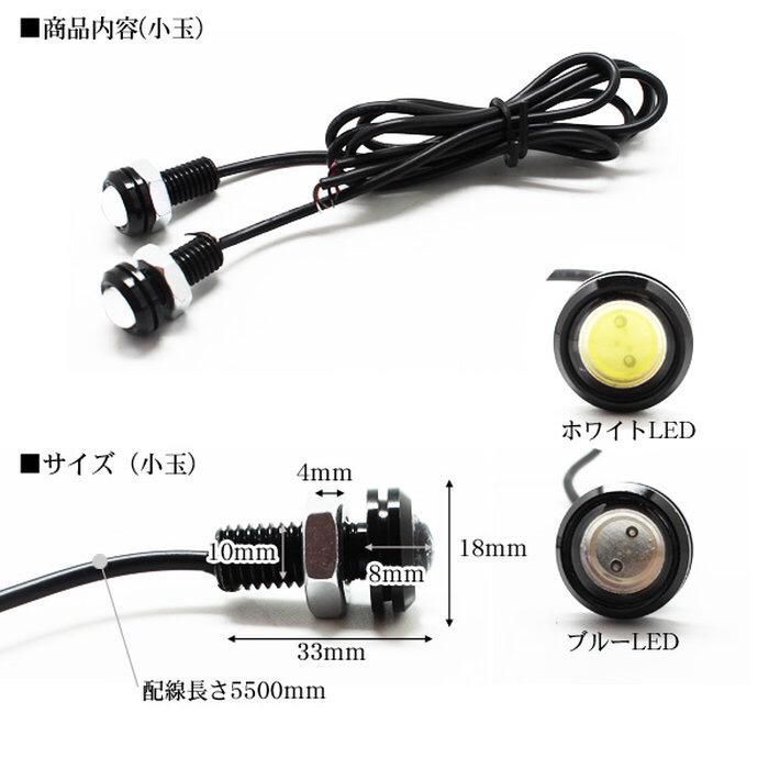 楽天ショップ LEDプロジェクタースポットライト 18mm埋込ボルトタイプ ホワイト