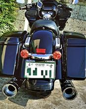 """ロードグライドスペシャルS&S Mk45 Chrome Tracer End Cap - Chrome Body Finish - 4.5"""" Slip-Onの全体画像"""