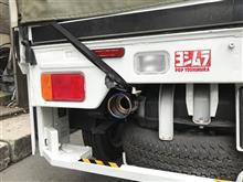 NT100クリッパーヨシムラ Slip-On Oval サイクロン チタンカバー/チタンブルーカバーエンドの全体画像