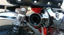 モンキー  Z50J-IOVER ステンチタン アップマフラー の全体画像