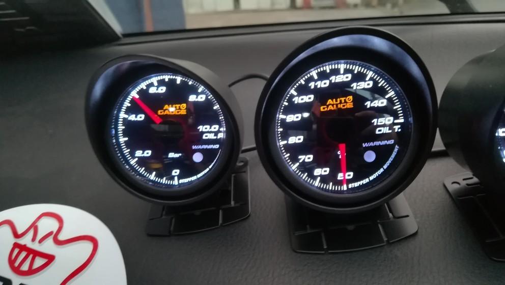 AutoGauge 油温計 油圧計 60Φ