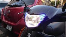 アドレスV125メーカー不明 台湾仕様ポジションランプ内蔵ヘッドランプの全体画像