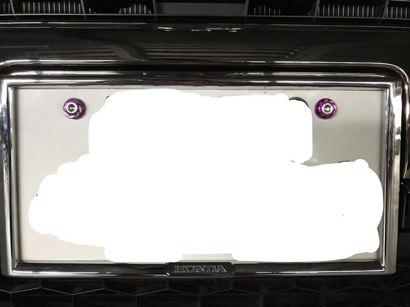 MRコーポレーション ナンバープレートボルト M6 カラーワッシャー