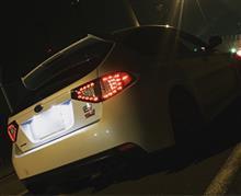 JEWEL LED テールランプ ライトスモーク/レッドクローム