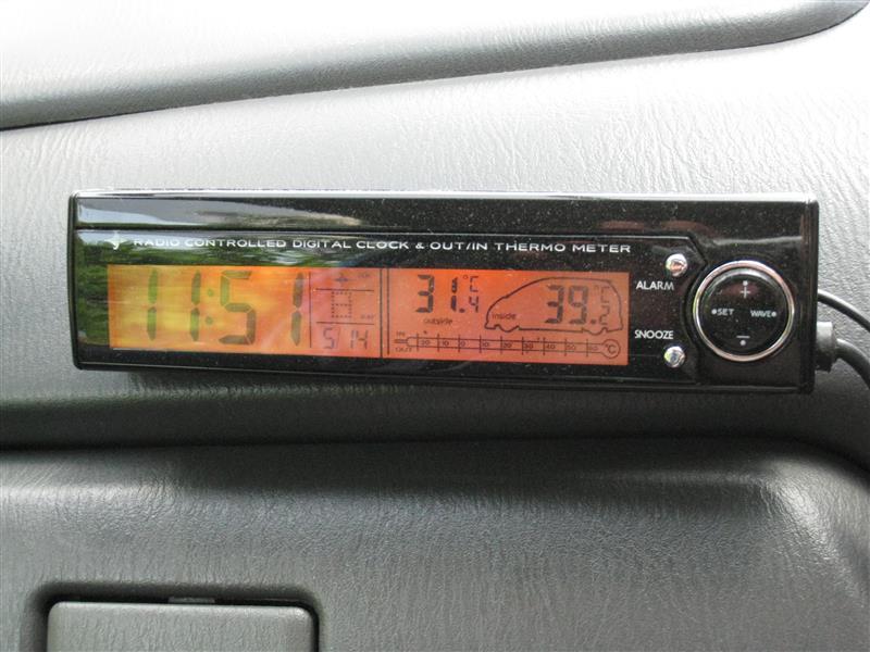 不明 温度計付き電波時計