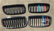 2シリーズ グランツアラーメーカー・ブランド不明 BMWフロントグリル(ダブルバー 光沢黒+メタリック)の全体画像