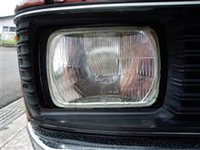 フロンテクーペヘッドライト CIBIEの角目二灯の単体画像