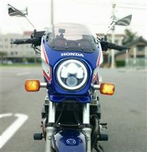 CB750不明 ホンダ専用エンジェルリング付き超照度のLEDヘッドライトの全体画像