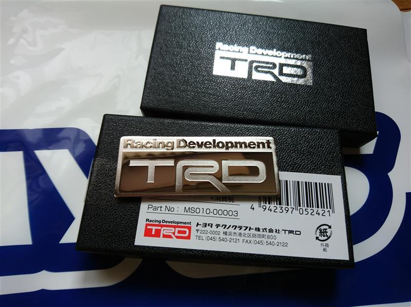 TRD / トヨタテクノクラフト TRDエンブレム Bタイプ