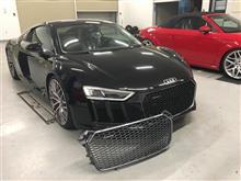 R8 (クーペ)Audi純正(アウディ) ブラックメッシュグリルの単体画像