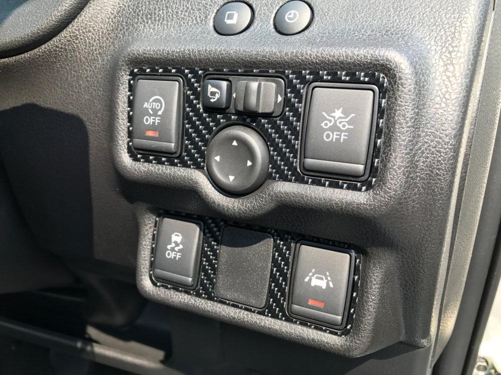 メーカー・ブランド不明 ノート(E12) コントロールスイッチパネル 4Dカーボン調 シートステッカー
