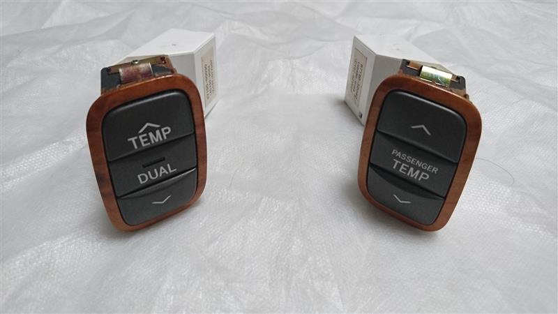 メーカー・ブランド不明 木目調パネル 温度調整スイッチ