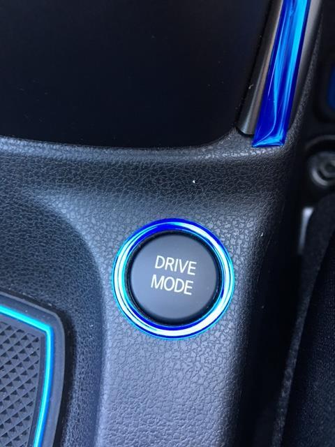 グロッシーアート ドライブモードスイッチ周り ブルーメッキ