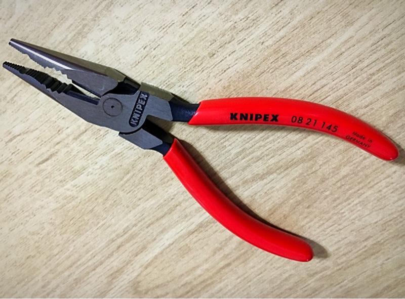 KNIPEX ニードルノーズペンチ カジキ 0821-145