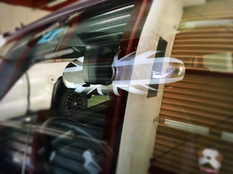 BMW MINI(純正) ルームミラーカバー ブラックジャック