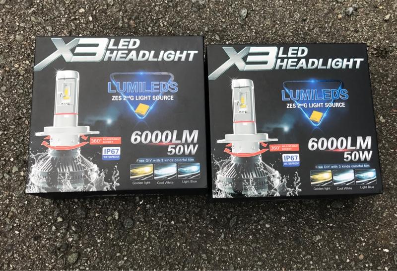 不明 Philips X3 LED ヘッドライトフォグ 12000LM