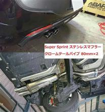 アバルト プントエヴォSuper Sprint / S.S.BERRY スーパースプリントマフラーの単体画像