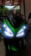 NINJA650NIGHTEYE バイク用 LEDヘッドライトH4 H7対応 3000LM 6500K ホワイトの全体画像