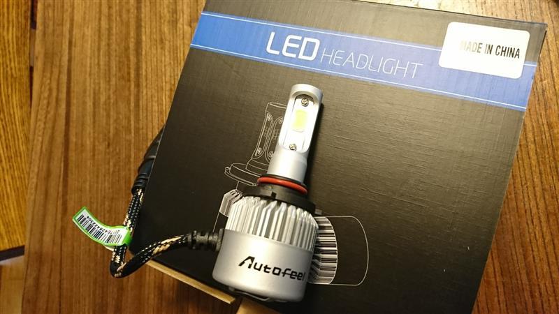 Autofeel Autofeel 車用LEDヘッドライトバルブ hb3 9005 8000LM 72W IP65 6500K COB 2本セット