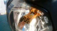 125DukeSTREET CAT 直流交流兼用バイクLEDヘッドライト の単体画像