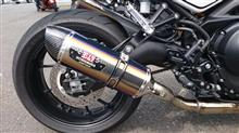 XSR900ヨシムラジャパン 機械曲 R-77S サイクロン カーボンエンド EXPORT SPEC 政府認証の単体画像