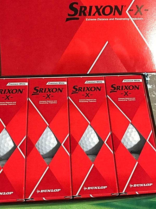 ダンロップ スリクソン -X- ゴルフボール 1ダース 12個入り(プレミアムホワイト)