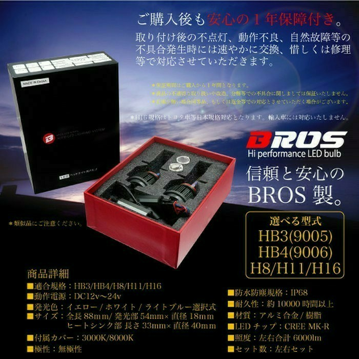 BROS H11 LEDバルブ