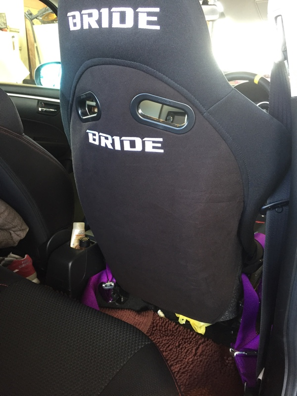 BRIDE シートバックプロテクター