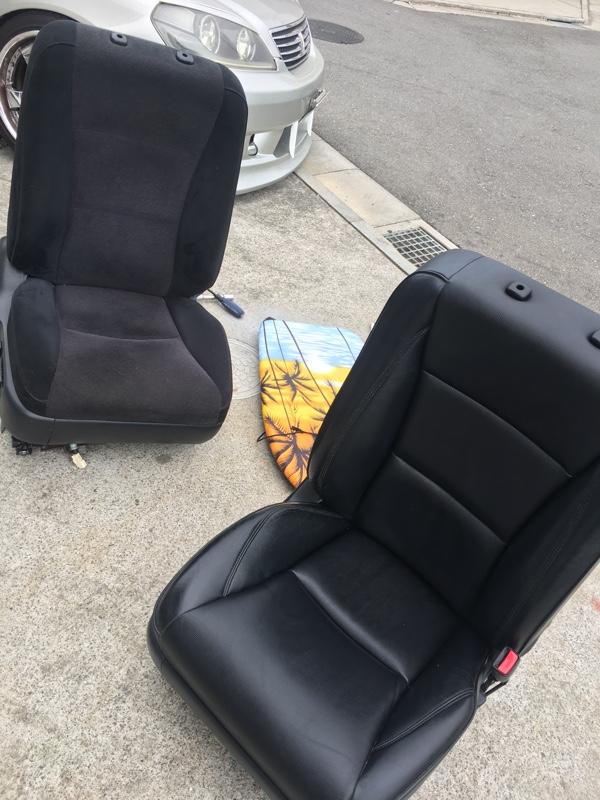 トヨタ純正 黒革シート運転席