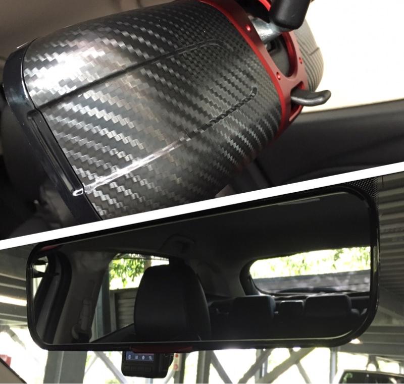 CAR MATE / カーメイト 3000R ルームミラー カーボン調 レッド 270 / DZ365
